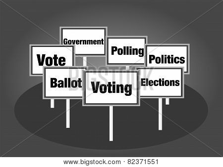 Election voting signs