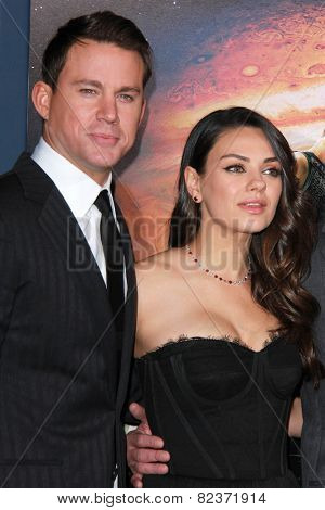 LOS ANGELES - FEB 2:  Channing Tatum, Mila Kunis at the