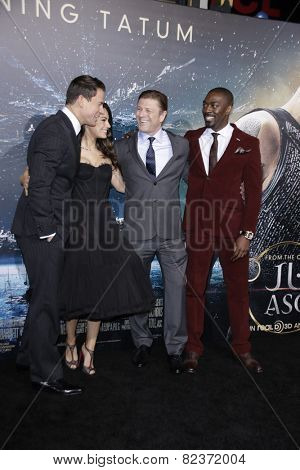 LOS ANGELES - FEB 2:  Channing Tatum, Mila Kunis, Sean Bean, David Ayala at the