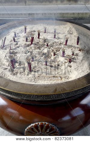 burning stick incense