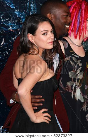 LOS ANGELES - FEB 2:  Mila Kunis, David Ajala at the