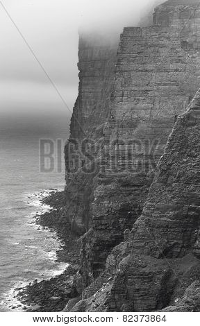 Scottish Landscape In Orkney. Hoy Cliffs. Scotland