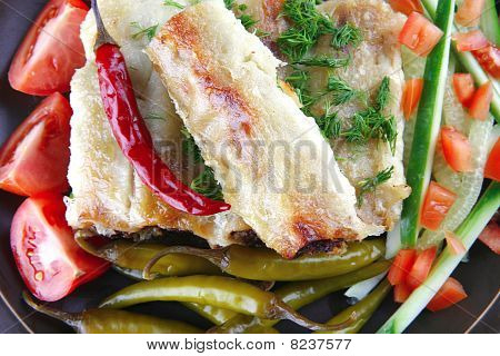 Cannelloni With Fresh Tomato Cherry Peppers