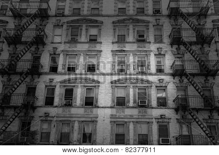 Soho buildings facade in Manhattan New York City NYC USA