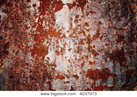 Surface Of Rusty Steel Sheet.