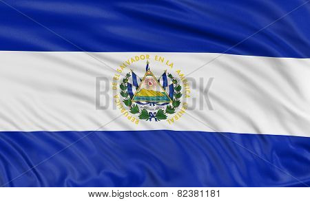 3D flag of El Salvador