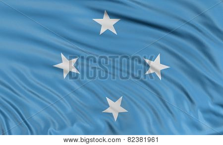 3D flag of Micronesia