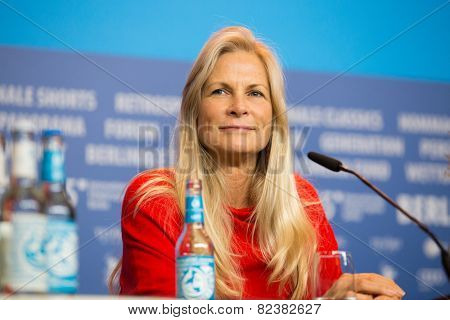BERLIN- FEBRUARY, 05: Martha De Laurentiis. International Jury of Berlinale. Press Conference at Hyatt Hotel, February, 05, 2015 in Berlin, Germany