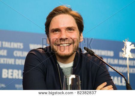 BERLIN- FEBRUARY, 05: Daniel Bruhl. International Jury of Berlinale. Press Conference at Hyatt Hotel, February, 05, 2015 in Berlin, Germany