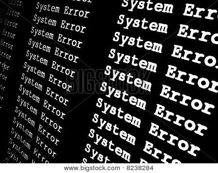 System Error Screen
