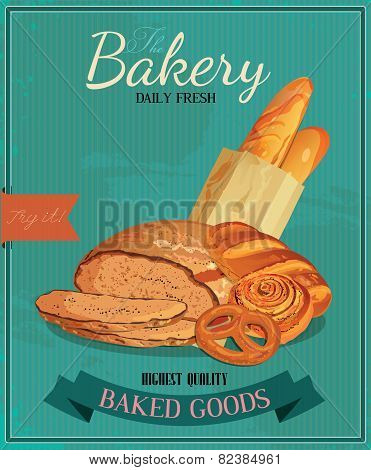 Poster with bread
