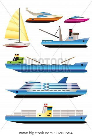different types of boat and ship icons