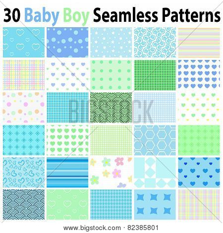 30 Baby Boy Seamless Patterns