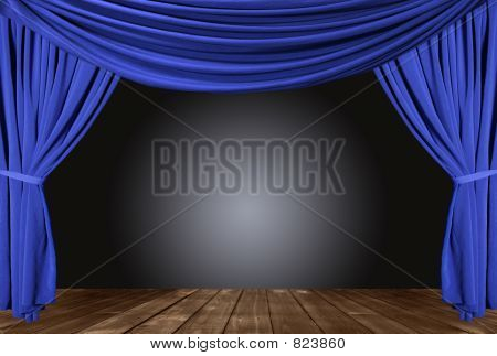 Draped Stage With Floor
