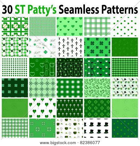 30 St Patrick's Day Seamless Patterns
