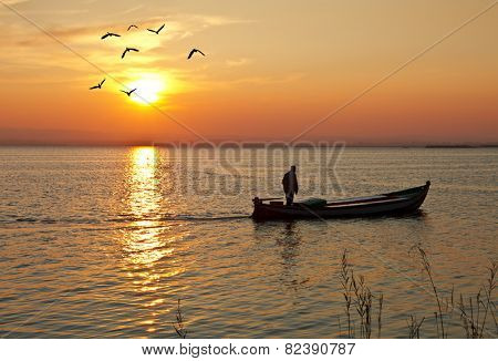 the fisherman at home