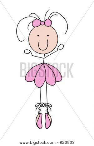 Stick Figure Bailarina Ballet