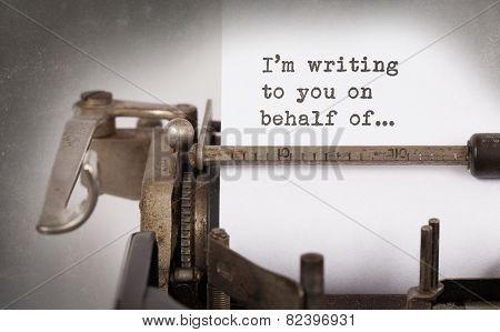 Close-up Of A Vintage Typewriter