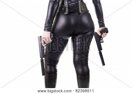 Sexy Woman With Guns.