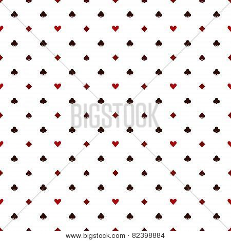 Seamless poker pattern with card suits