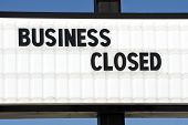 image of going out business sale  - Horizontal shot of a business that closed - JPG