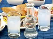 image of ouzo  - Misc seafood and greek alcohol drink ouzo