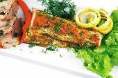 image of fish skin  - healthy dinner - JPG