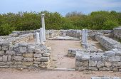 picture of altar  - Classical Greek altar in Sevastopol on territory of Chersonesos