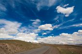 image of armenia  - beautiful day in the spring landscape of the mountain Armenia - JPG