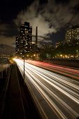 FRD highway in New York city by night poster