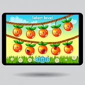 foto of ladybug  - Game level selection fruit ui screen - JPG
