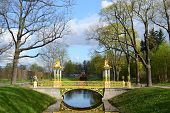foto of tsarskoe  - Bridge in the Alexander park in Tsarskoe Selo Russia - JPG