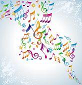 Постер, плакат: Красочный музыкальный фон