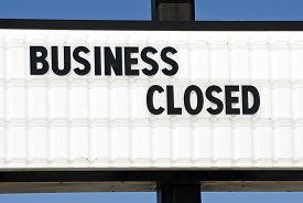 foto of going out business sale  - Horizontal shot of a business that closed - JPG