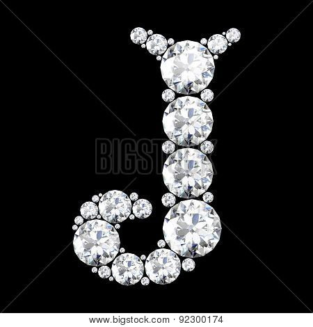 A Stunning Beautiful J Set In Diamonds