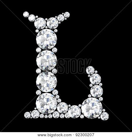 A Stunning Beautiful L Set In Diamonds