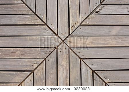 Creative Wooden Planks Desk Background