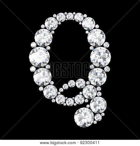 A Stunning Beautiful Q Set In Diamonds