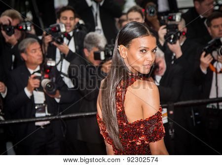Actress Liya Kebede attends the 'Mad Max: Fury Road' premiere during the 68th annual Cannes Film Festival on May 14, 2015 in Cannes, France.