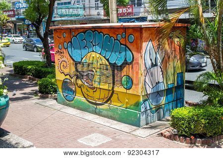 graffiti on High voltage cabinet