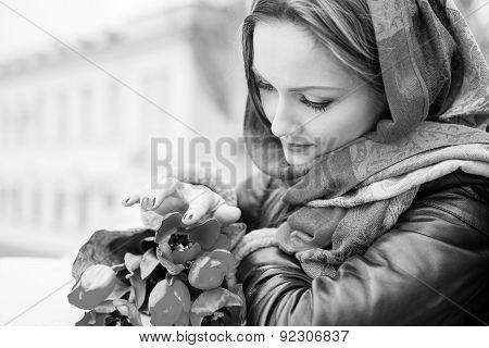 Gentle Portrait Of A Beautiful Woman