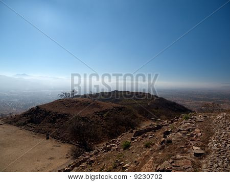 Unexcavated Pyramid Zapotec At Monte Alban, Mexico