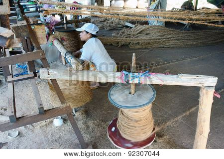 Asian Worker, Coir Mat , Vietnamese, Coconut Fiber