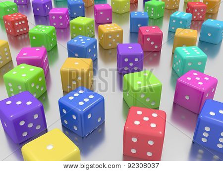 Dice colors random
