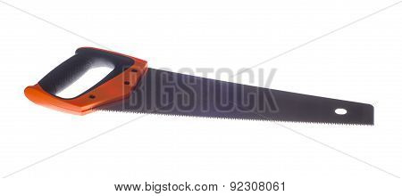 Hand Saw Isolated On A White