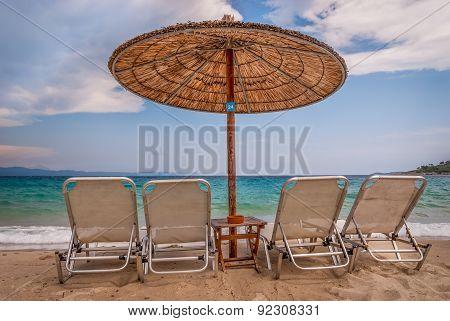 beautiful beach,Chalkidiki,Greece