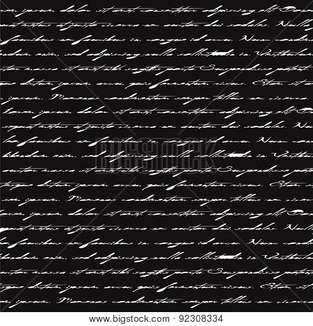 Seamless Abstract Text Pattern.