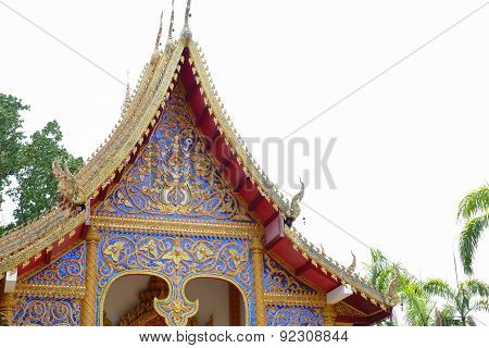 The Sculpture Art Of Temple Gable