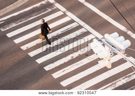 a man across the road