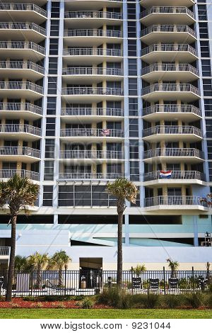 Empty Building along Gulf Coast